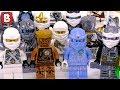 Every LEGO Zane Ninjago Minifigure Ever Made!!!