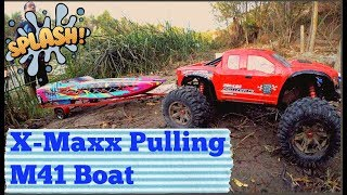 M41 Traxxas Boat And X-Maxx UnBoxing 50+ MPH !!!! 4K