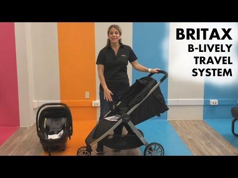 NEW 2019 Britax B-Lively Travel System Demo