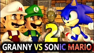 GRANNY VS SONIC & SUPER MARIO 2! Ft. LUIGI! (official) Minecraft Horror Game Animation Video
