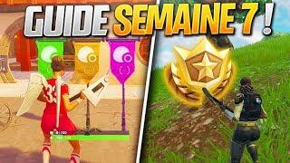 GUIDE COMPLET DES DÉFIS DE LA SEMAINE 7 SAISON 5 DE FORTNITE ! (Fortnite Astuce)