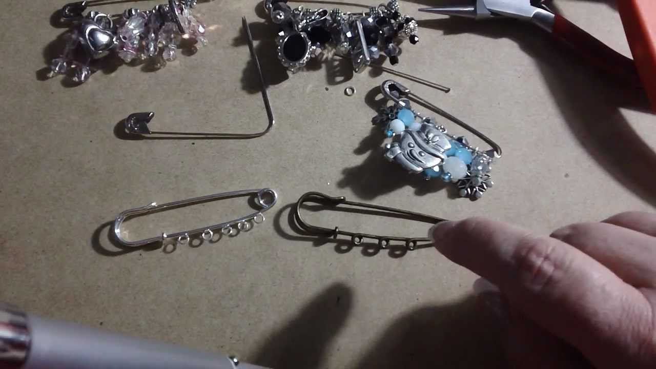 Safety Pin Brooches - the how-to