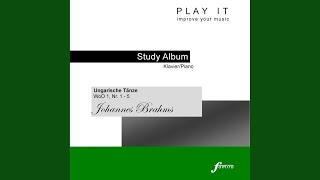 Ungarische Tänze, WoO 1, No. 5: Allegro in fis-moll (Primo - Metronome: 1/4 = 88)
