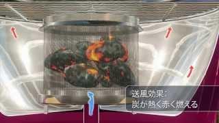 無煙炭火BBQコンロ ロータスグリルプロモーション thumbnail