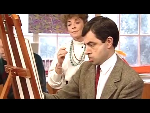 Painting With Bean   Funny Clips   Mr Bean Official