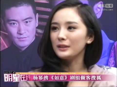 杨幂携《如意》剧组做客《明星在线》