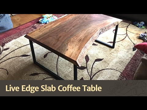 Live Edge Slab Coffee Table