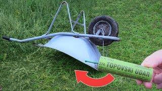 Experiment wheelbarrow vs firecracker
