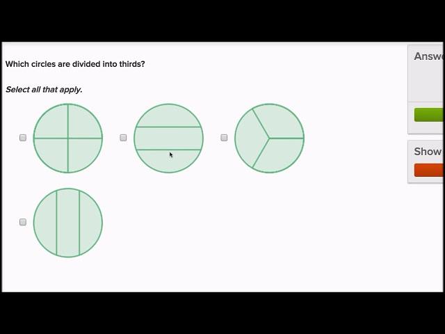 ส่วนเท่าๆ กันของวงกลมกับสี่เหลี่ยมมุมฉาก | Equal parts of circles and rectangles