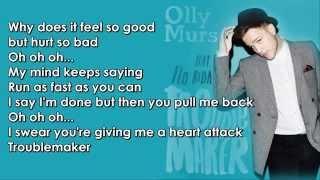 Olly Murs feat Flo Rida Troublemaker karaoke