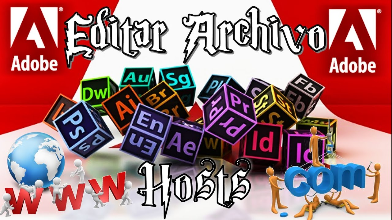 Editar archivo hosts adobe 2016