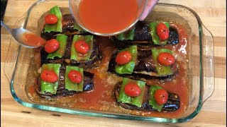 Delicious and quick re¢ipe with Eggplant/How make stuffed eggplant # 101