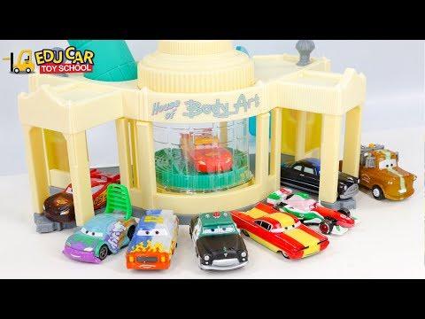 Learning Color Special Disney Pixar Cars Lightning McQueen Mack Truck car wash for kids car toys
