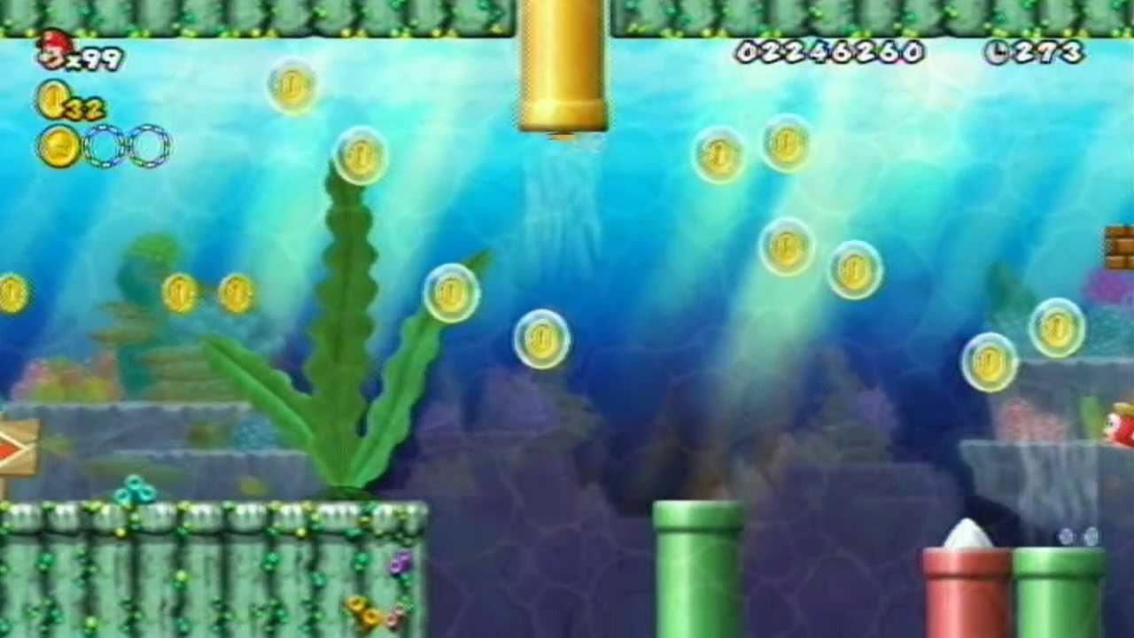 New Super Mario Bros Wii Walkthrough World 4 Part 2 Episode 14