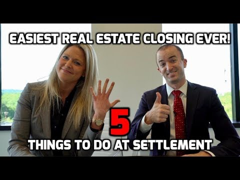 closing on a house 5 things to do before settlement for
