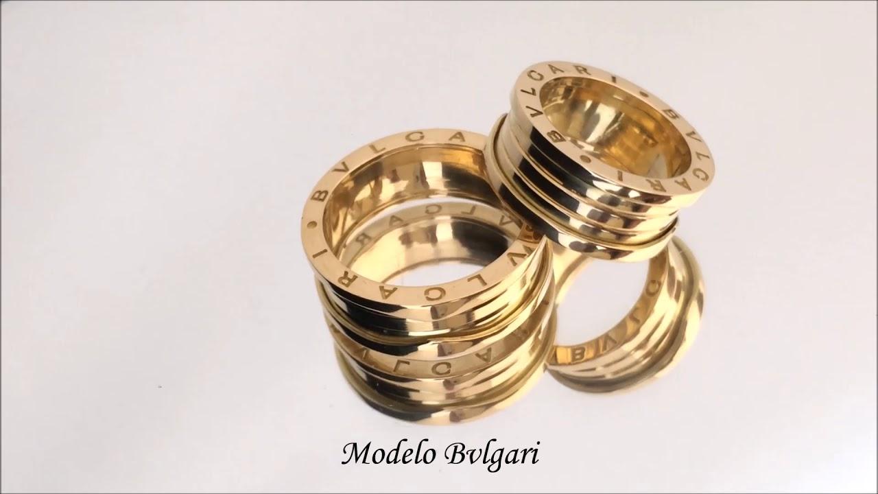 932696cdbd3 Don Joalheria - Par de Aliança Bvlgari em Ouro 18k 750 30 gramas ...