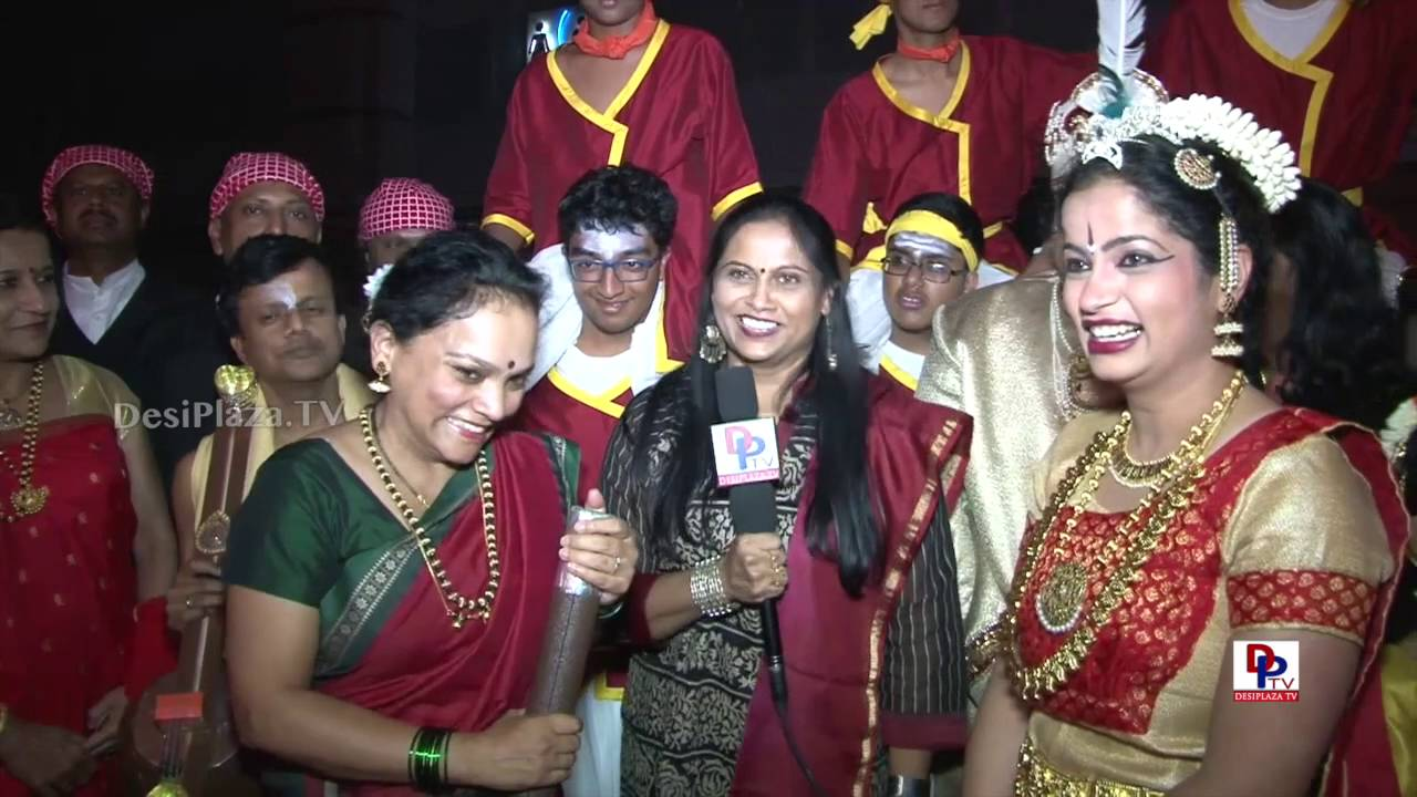 Richmond Kannada Sangha participants speaking to DPTV9th AKKA World Kannada Conference