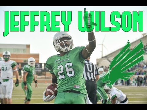 detailed look 78abf 3d610 Jeffrey Wilson || Explosive Half Back || North Texas Highlights