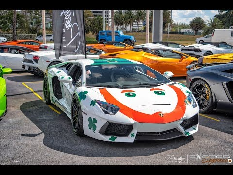 World's Best Supercars - Hypercars drive by Exotics & Espresso at Lamborghini Miami Prestige Imports