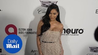 Nicole Scherzinger In Feathered Frock At Oscars After-party