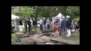 Archaeological dig on Cheadle Green, September 2010, Part 1