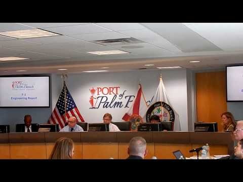 PORT OF PALM BEACH COMMISSION MEETING 10-19-2017...