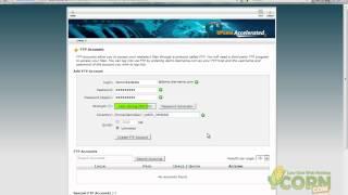 Criação de uma Conta FTP via cPanel
