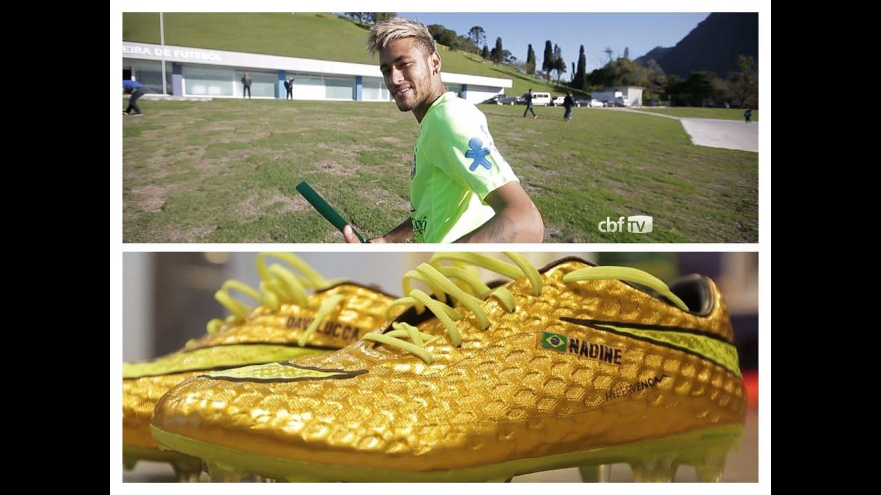 5b13385cebb8a Neymar vai estrear chuteira inspirada em Robinho contra o Chile.  Confederação Brasileira de Futebol