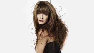 видео Стрижка каскад на длинные волосы фото 2016 с челкой