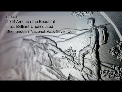 Shenandoah National Park 5 oz. Silver Coin