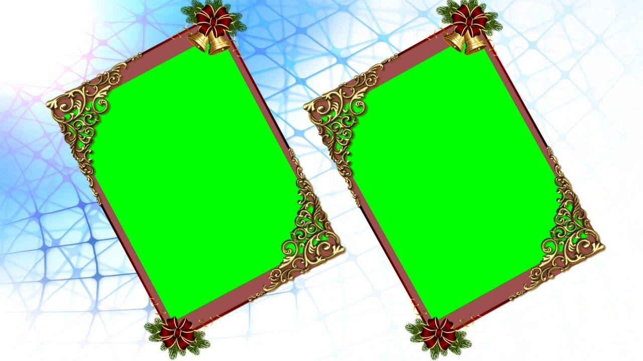 Two Photo Frame Green Screen Animation Video Background | DMX HD BG ...