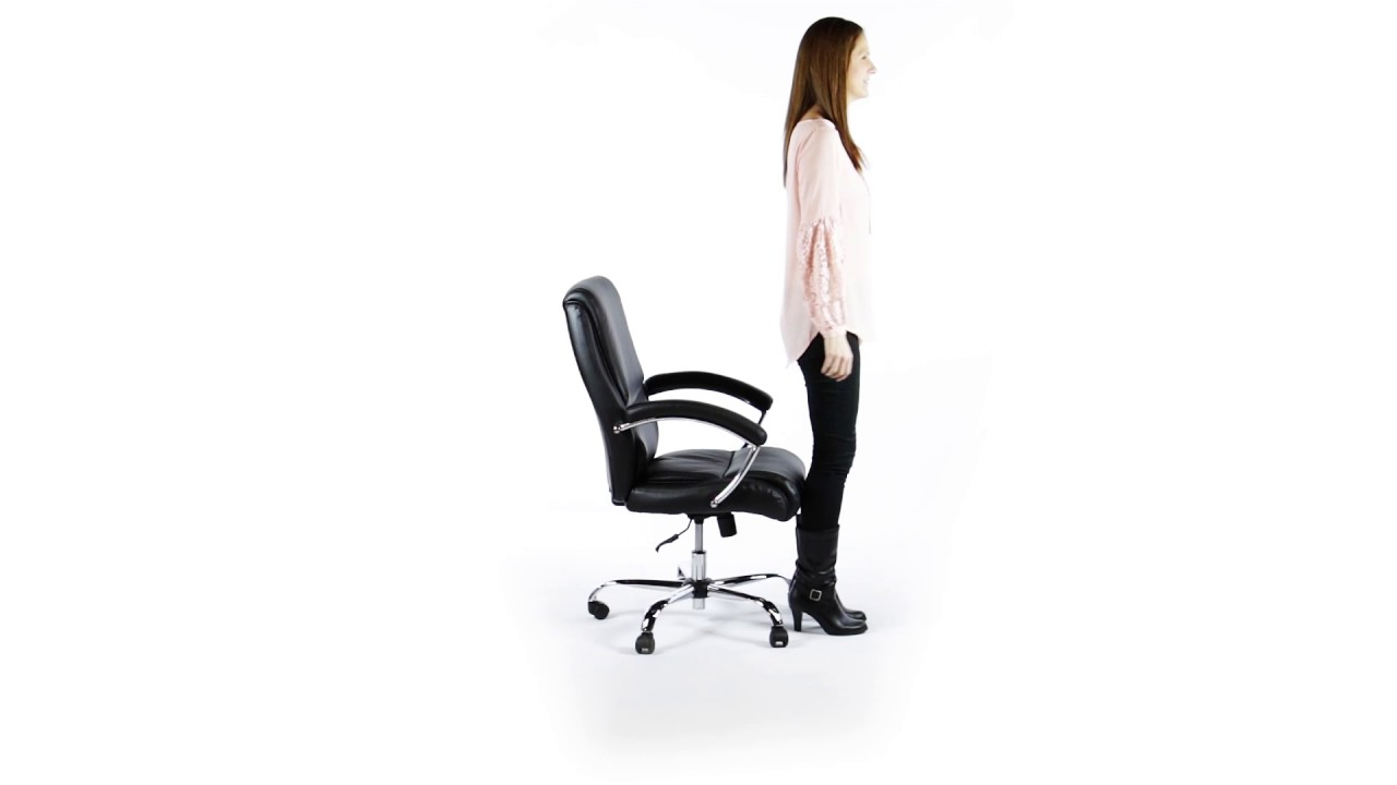 Essentials By Ofm Ergonomic High Back Leather Executive