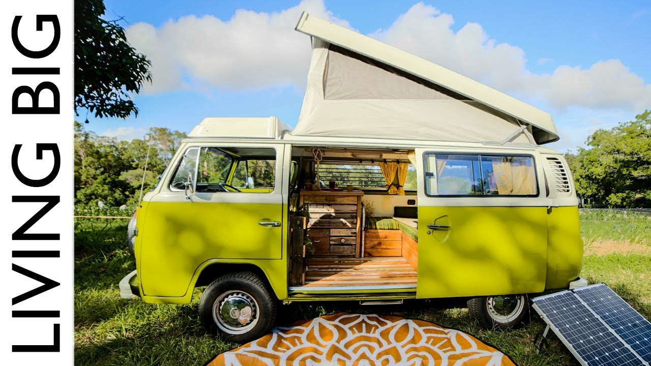 Van Life In A Renovated VW Kombi Westfalia - YouTube