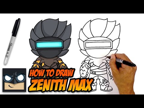 How to Draw Zenith Max | Fortnite | Step-by-Step Tutorial