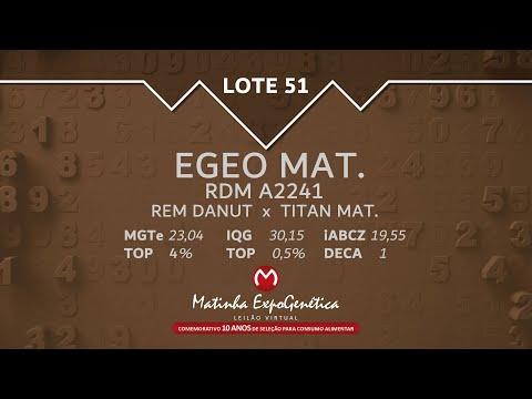 LOTE 51 MATINHA EXPOGENÉTICA 2021