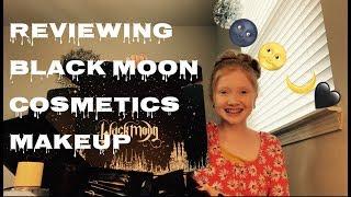 ASMR~ Whispering, Relaxing, Black Moon Make-Up Review 🌚🌙🖤