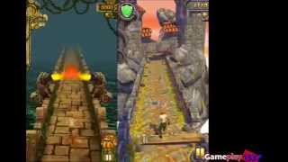 TEMPLE RUN vs TEMPLE RUN 2 - Best Endless Running Games - Walkthrough / Review (iOS, Android)