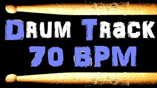 70 BPM Drum Beat Laid Back Groove Blues Bass Guitar Backing Jam Drums Track