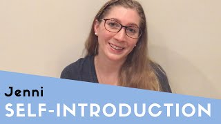 Jenni Self Introduction thumbnail picture.
