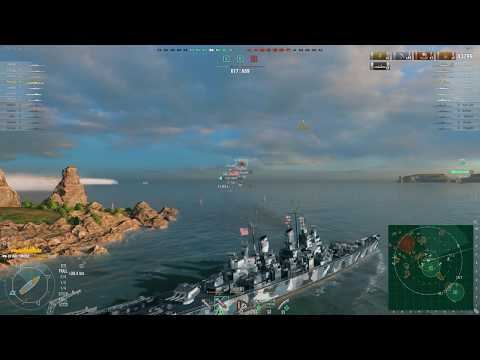 World of Warships - [Tier IX] USS Baltimore on The Atlantic [2017.08.21], Build 0.6.9.0