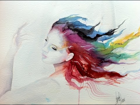 Speed Painting Watercolor The Dancer