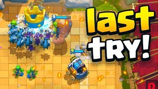 LAST TRY in the 20 Win Clash Royale Challenge! 😢