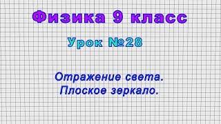 Физика 9 класс (Урок№28 - Отражение света. Плоское зеркало.)