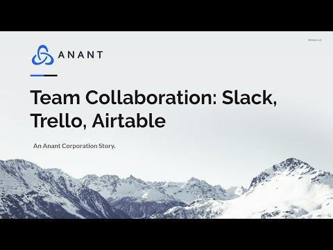 Team Collaboration: Slack, Trello, Airtable