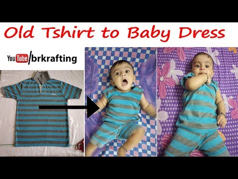 OLD TSHIRT TO BABY DRESS RESUSE OLD CLOTH REUSE