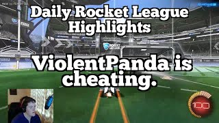 Daily Rocket League Highlights: ViolentPanda is cheating.
