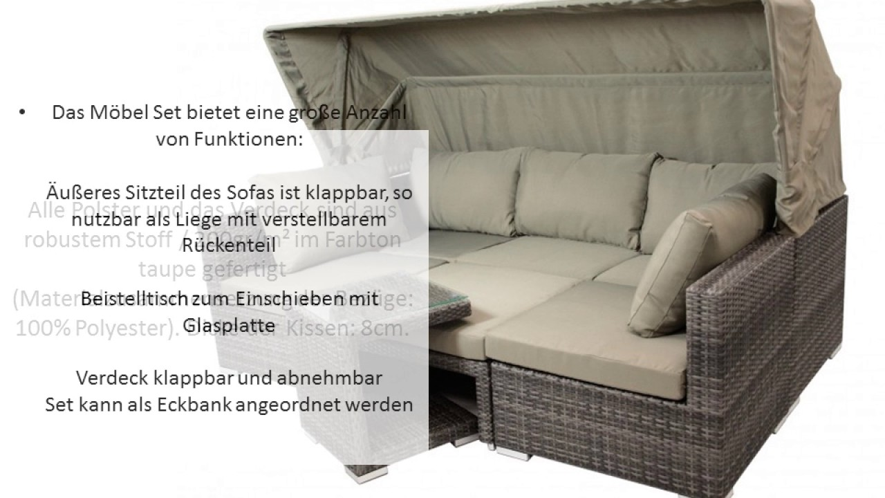 Gartenmöbel Lounge Set Manacor - YouTube