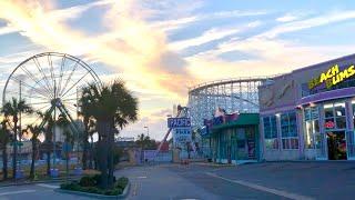 Myrtle Beach Ocean Boulevard POV at Dusk
