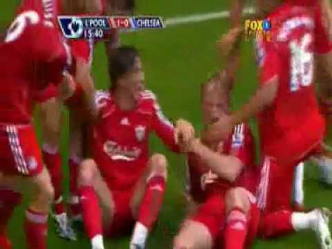 Fernando Torres First Goal for Liverpool vs Chelsea 07-08