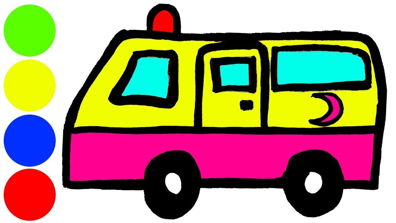 Oyuncak Ambulans Boyama Ve Cizim Cocuklar Icin Boyama Videolari